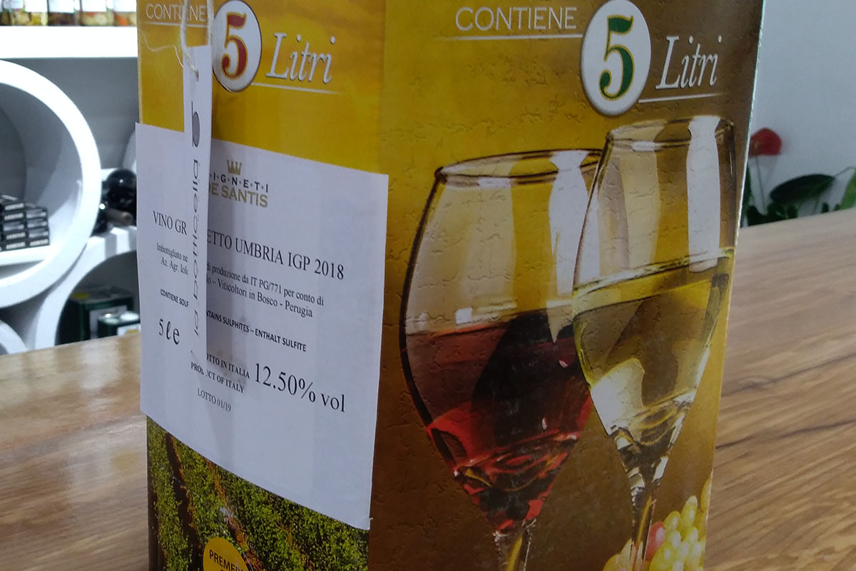 bag in box vino grechetto de santis